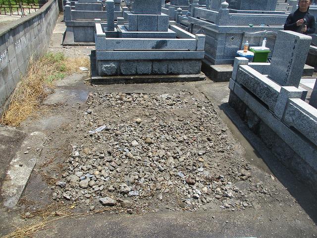 墓じまい例4 北九州 月影霊園