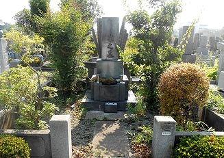 施工例5前 月影霊園 お墓クリーニング